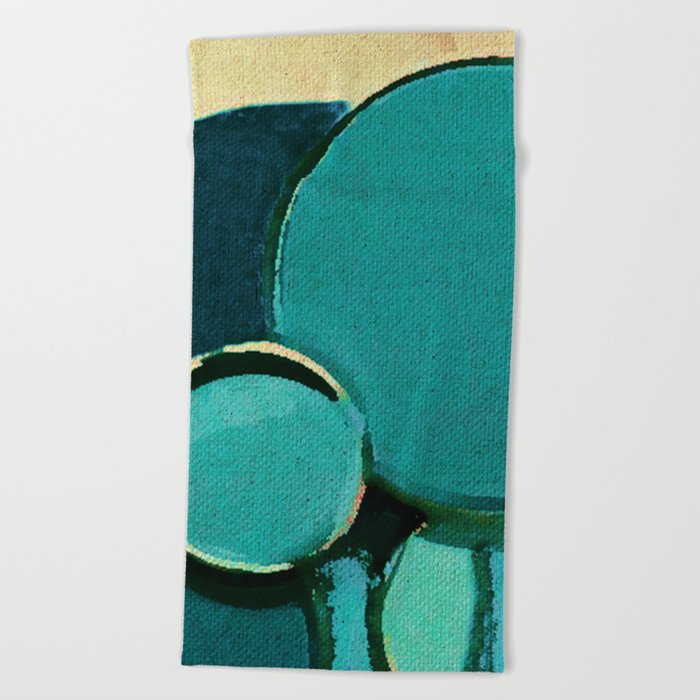 The Bubbles Trees Beach Towel