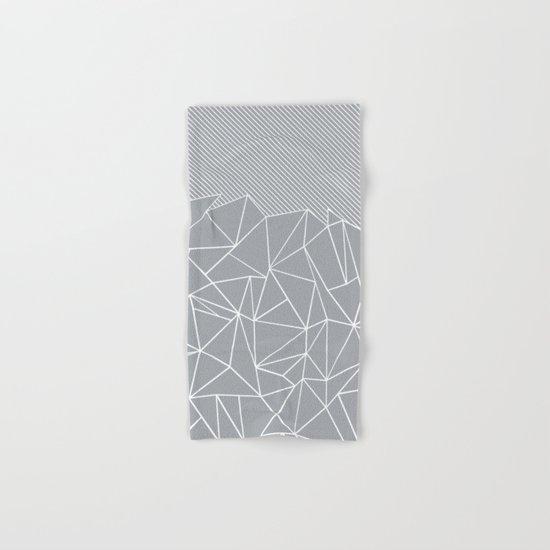 Ab Linear Grey Hand & Bath Towel