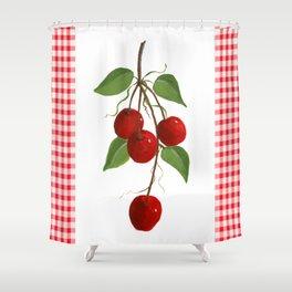 Country Cherries Shower Curtain
