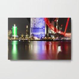 Flat water light Metal Print