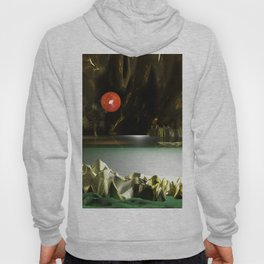 3d Modeling Cave Lake with Red Sun Hoody