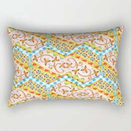 Gypsy Caravan Blue Gingham Rectangular Pillow