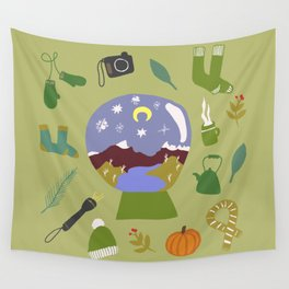 Cradle Mountain Snow Globe Wall Tapestry