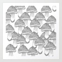 Mushrooms Festival Art Print