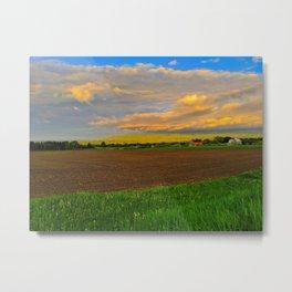 Stormy Farmland - Home Decor. Metal Print
