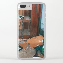 Retro Cassettes Clear iPhone Case