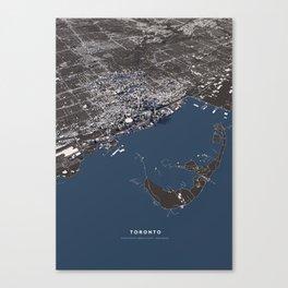 Toronto city map Canvas Print