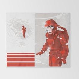 Hiroko in Storm // (astronaut girl) Throw Blanket