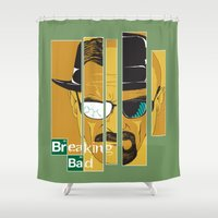 breaking bad Shower Curtains featuring Breaking Bad by I.Nova