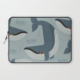 Blue Whale, Antartica Wildlife Laptop Sleeve