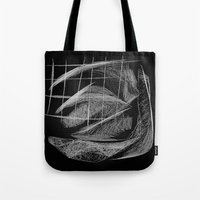 cage Tote Bags featuring Window/Cage by Paul Kimble
