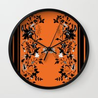 baroque Wall Clocks featuring baroque by Maria Fernanda Furtado