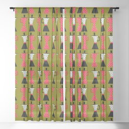 Ole coffee pot in olive green Sheer Curtain