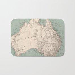 Vintage Topographic Map of Australia (1868) Bath Mat