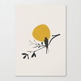 Bird and the Setting Sun Canvas Print