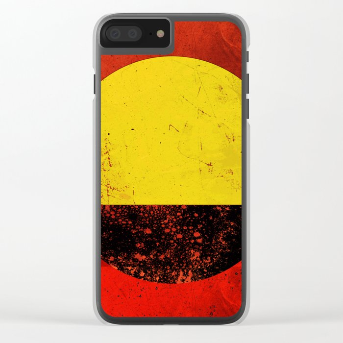 Abstract #203 Clear iPhone Case