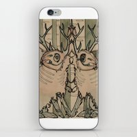 jackalope iPhone & iPod Skins featuring JACKALOPE by Lena Hirsch