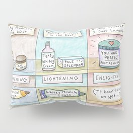 Beauty in the East vs. West -Skin Cream Pillow Sham