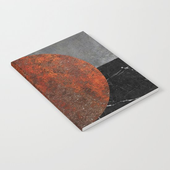 Abstract - Marble, Concrete, and Rusted Iron II Notebook