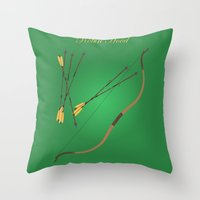 robin hood Throw Pillows featuring Robin Hood | Fairy Tales by Gabriele Omar Lakhal