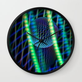 Behind the light glass ball Wall Clock