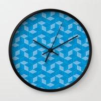 escher Wall Clocks featuring Escher #007 by rob art | simple