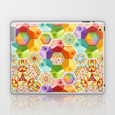 Circus Rainbow Hexagons Laptop & iPad Skin