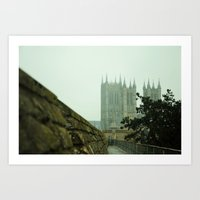 A View from the Castle; Lincoln, England Art Print