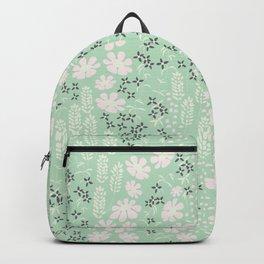 Floral Mint Pattern 013 Backpack