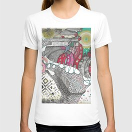 """Flamingo""  Illustrated print T-shirt"