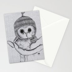 Bobble Hat Owl Stationery Cards