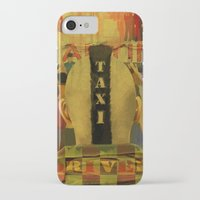 taxi driver iPhone & iPod Cases featuring Taxi Driver by David Amblard