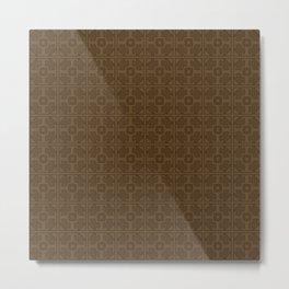 Maya pattern Metal Print