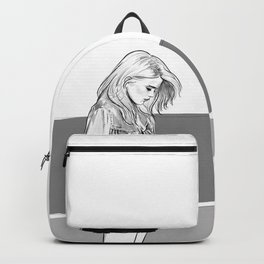 Heavy Metal Heart - Sky Ferreira illustration portrait Backpack