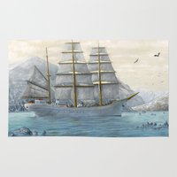 ship Area & Throw Rugs featuring Ship by Azot