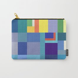 Blue Checker Pattern Carry-All Pouch