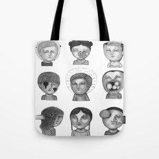 Crazy Heads Tote Bag