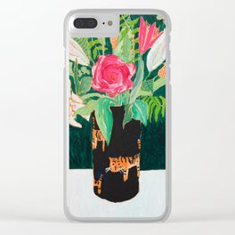 Tiger Vase Clear iPhone Case