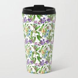 Floral naïf pattern Travel Mug