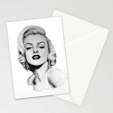 Marilyn Monroe portrait Stationery Cards