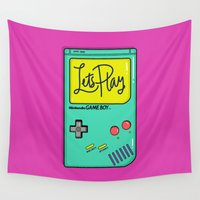 gameboy Wall Tapestries featuring Let's Play GameBoy by Chelsea Herrick