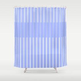 4 lina. blu Shower Curtain