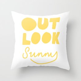 Outlook Sunny Throw Pillow