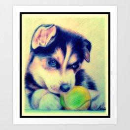 Baby Husky Art Print