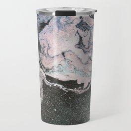 Acrylic marble painting colorful Travel Mug