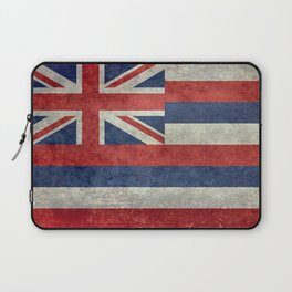 Flag of Hawaii, Retro Vintage Laptop Sleeve