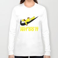 homer Long Sleeve T-shirts featuring Homer Lazy by Maxvtis