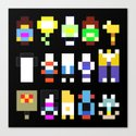 Minimalist undertale characters by catascreations