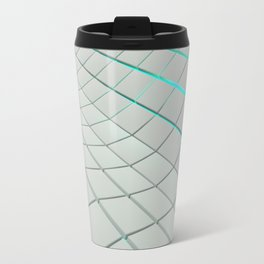 Wavy surface made of cubes Travel Mug
