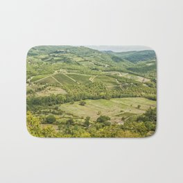 Vineyards landscapes in the morning in Chianti. Bath Mat